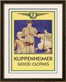 Kuppenheimer Framed Giclee Print by Joseph Christian Leyendecker