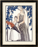 Mother and Child Framed Giclee Print by Jean Dupas