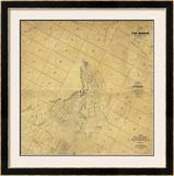 Map of The City of Los Angeles, c.1857 Framed Giclee Print by Edward Otto Cresap, Ord