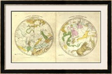 Circumpolar Map for each Month of the Year, c.1835 Framed Giclee Print by Elijah H. Burritt
