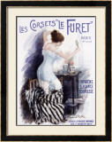 Corsets le Furet Framed Giclee Print by Manuel Robbe