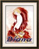Diana Framed Giclee Print by Charles Gesmar