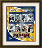 2009 San Digo Chargers AFC West Divison Champions Framed Photographic Print