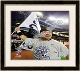 Nick Swisher Game Six of the 2009 MLB World Series Framed Photographic Print
