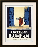 Isadora Duncan Framed Giclee Print by Alexander Alexeieff
