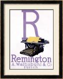 Remington Typewriter Framed Giclee Print