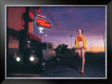 Pin-Up Girl: West House Deuce Framed Giclee Print by David Perry