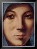 Gesicht der Maria Portrait Print by  Antonello da Messina