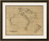Australasia, c.1812 Framed Giclee Print by Aaron Arrowsmith