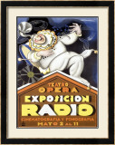 Expo Radio Framed Giclee Print by Achille Luciano Mauzan