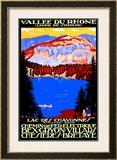 Vallee Du Rhone Railway Poster, circa 1930s Framed Giclee Print by  Mich (Michel Liebeaux)