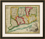 State of Connecticut, c.1827 Framed Giclee Print by Amos Doolittle