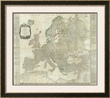 Composite: Europe, c.1787 Framed Giclee Print by Thomas Kitchin