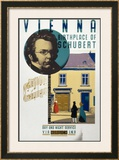 Vienna, Birthplace of Schubert Framed Giclee Print by Austin Cooper