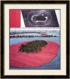 Surrounded Islands, Project for Biscane Bay, Greater Miami, Collage in Two Parts Prints by  Christo