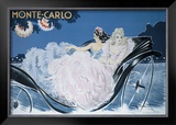 Monte-Carlo Framed Giclee Print by Louis Icart