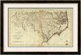 State of North Carolina, c.1796 Framed Giclee Print by John Reid