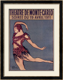 Theatre de Monte-Carlo Framed Giclee Print by Jean Cocteau