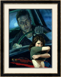 The Getaway Man Framed Giclee Print by Richie Fahey