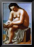 Femme Nue S'Essuyant le Pied, c.1921 Print by Pablo Picasso