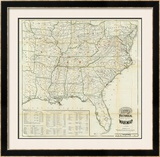 The United States Historical War Map, c.1862 Framed Giclee Print by  Asher & Company