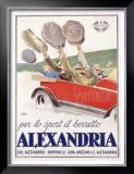 Alexandria Berretto Framed Giclee Print by Achille Luciano Mauzan