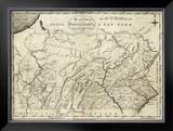 State of Pennsylvania, c.1796 Framed Giclee Print by John Reid