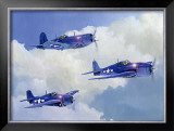 Navy Fighters of WWII Framed Giclee Print by Douglas Castleman