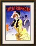 Theatrophone Framed Giclee Print by Jules Chéret