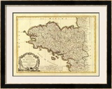 Bretagne, c.1786 Framed Giclee Print by Rigobert Bonne
