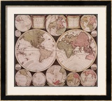 Atlas Major World Map Print by  Dutch