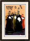 Singing Bottles I Limited Edition Framed Print by  Lepain