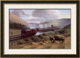 L.M.S. the Royal Scot, Tebay Troughs, 1935 Print by Gerald Broom