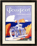 Peugeot Motorcycle Framed Giclee Print by G. Favre