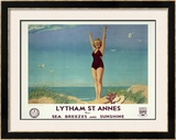 Lytham St. Annes for Sea Breezes and Sunshine Framed Giclee Print by W. Smithson Broadhead