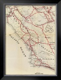 California: San Benito, Fresno, Monterey, San Luis Obispo, Kings, Kern, and Santa Barbara, c.1896 Framed Giclee Print by George W. Blum