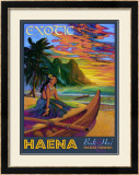 Hawaii, Bali Hai Exotic Haena Framed Giclee Print by Rick Sharp