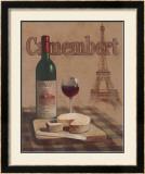 Camembert, Tour Eiffel Prints by T. C. Chiu