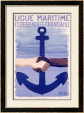 Colonial Maritime League Framed Giclee Print by Paul Colin