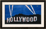 Hollywood Sign at Night Prints by Aaron Foster