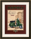 Napoli Scooter Posters by Bruno Pozzo