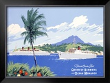 Fumess Cruise Ships Framed Giclee Print by Adolph Treidler