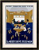 Nord-Wagons Lits-PLM Framed Giclee Print by Jean-raoul Naurac