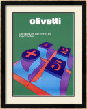 Olivetti Electronic Calculator Key Pad Framed Giclee Print