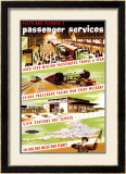 Facts and Figures, No 1, Passenger Services Framed Giclee Print by Longman