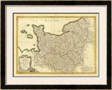 Normandie, Maine, Perche, c.1791 Framed Giclee Print by Rigobert Bonne