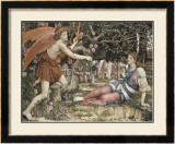 Love and the Maiden Poster by John Roddam Spencer Stanhope