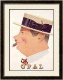 Opal Framed Giclee Print by Herbert Leupin