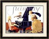 Steinway Framed Giclee Print by Werner Von Axster-Heudtlass