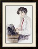 Underwood Typewriter Framed Giclee Print